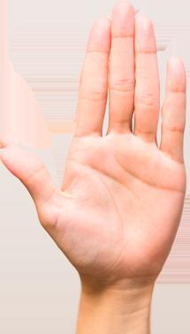 Quiromancia dedo largo