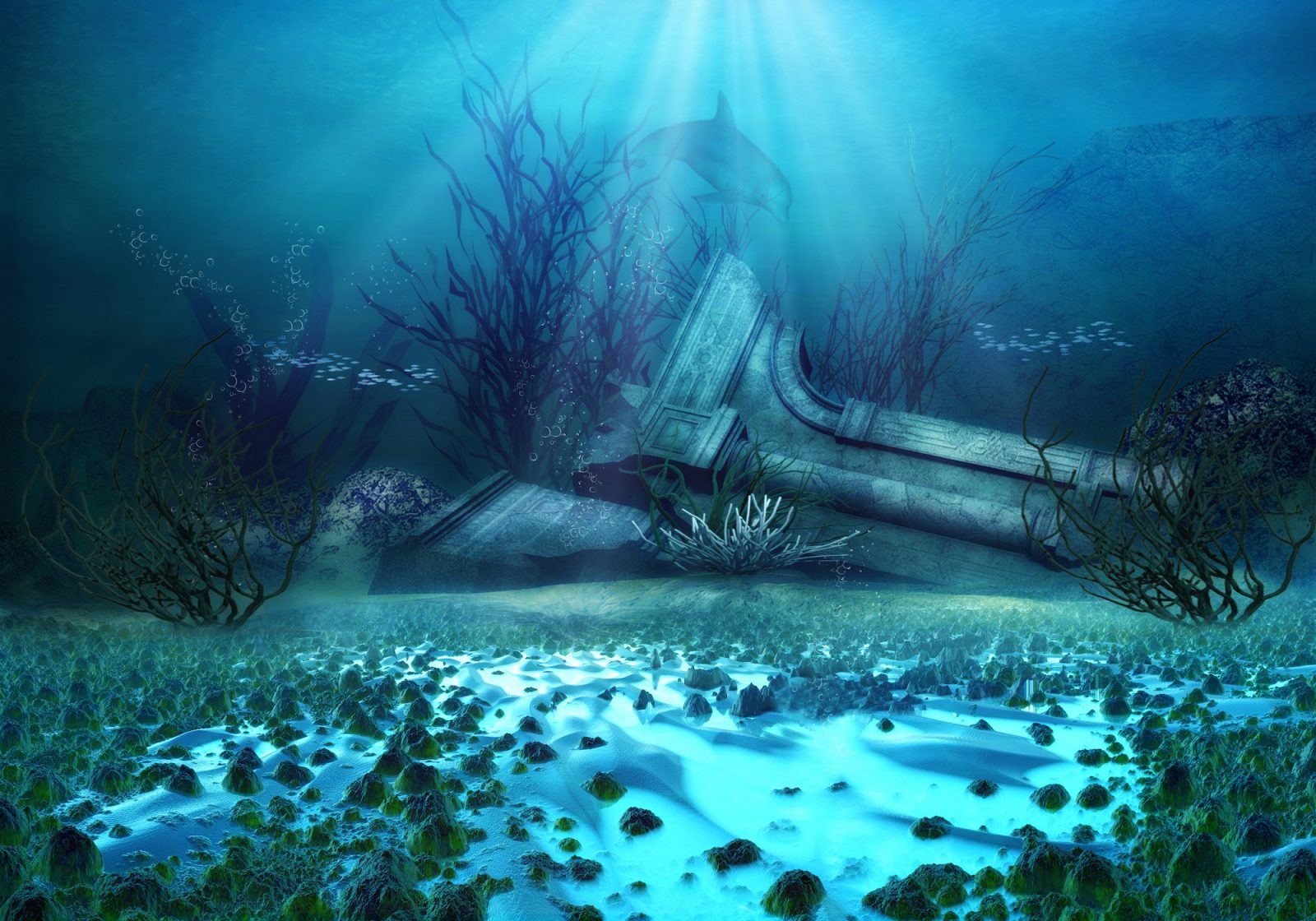 la atlantida fondo del mar