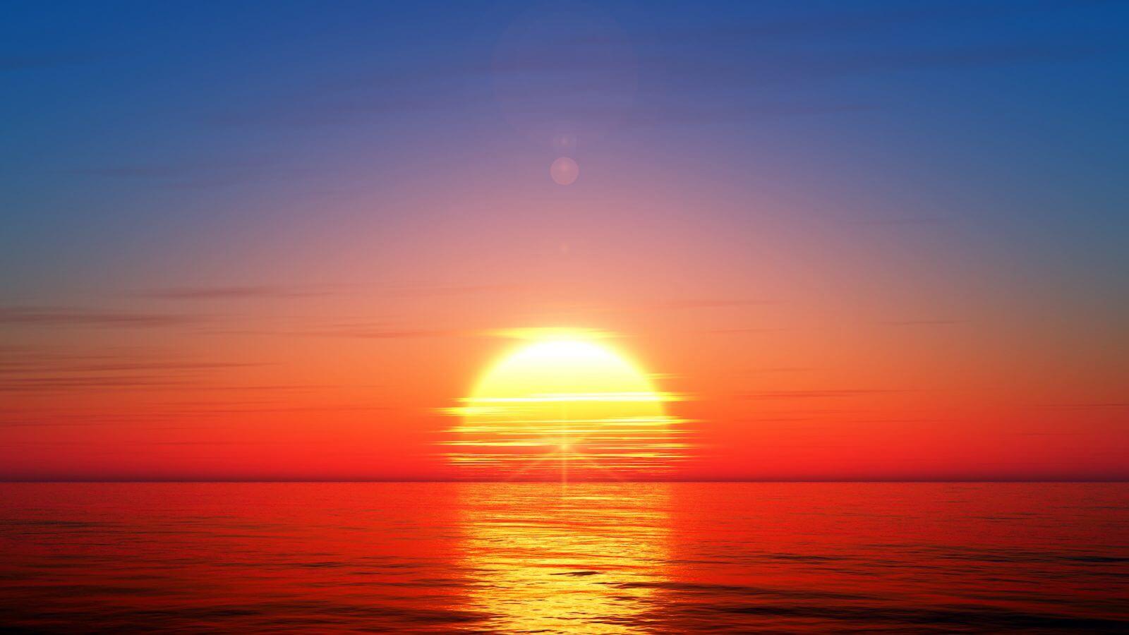 conjunción solar ascendente