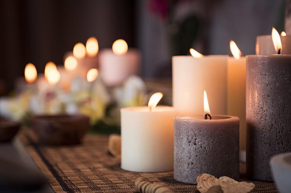 Adivinación llama de la vela