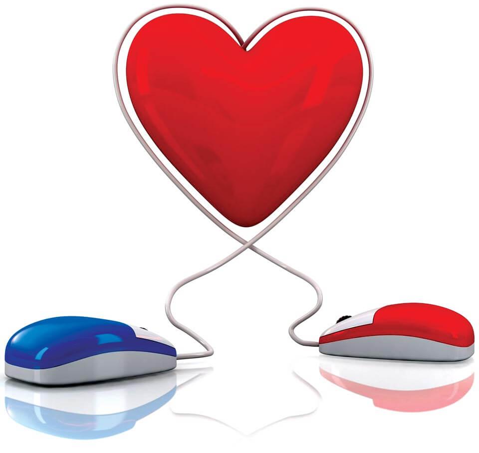 el amor a través de la red