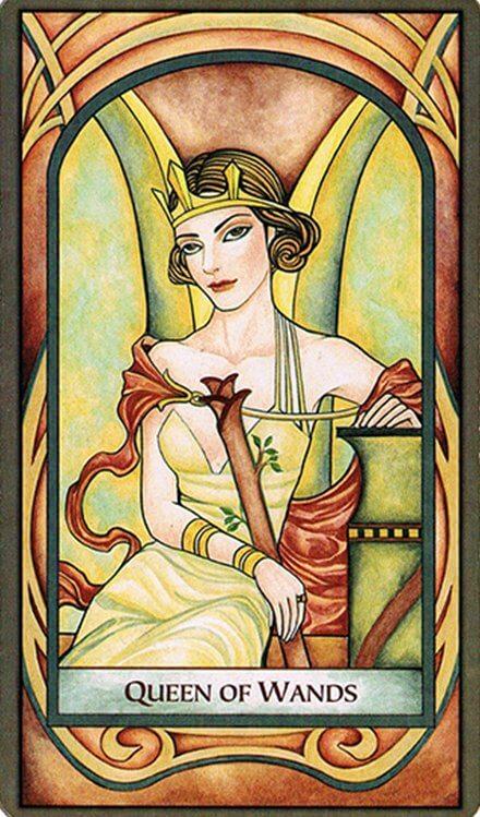 Arcanos Menores - Reina de Bastos