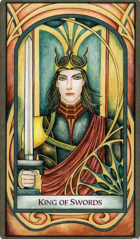 Arcanos Menores - Rey de Espadas