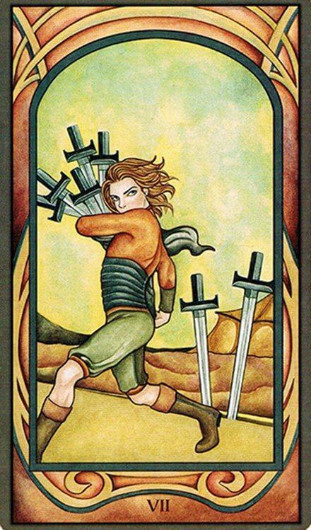 Arcanos Menores - 7 de Espadas
