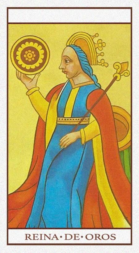 Arcanos Menores - Reina de Oros
