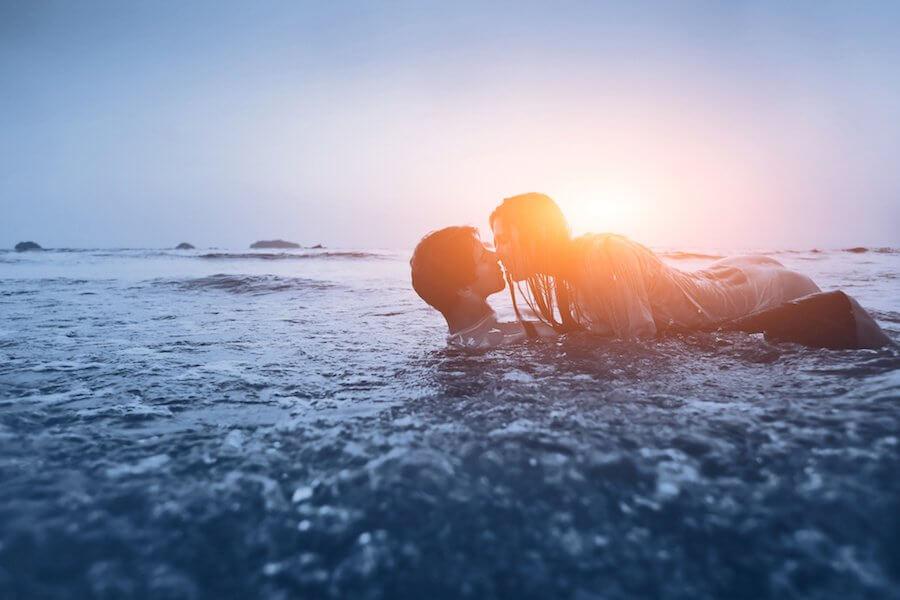 las parejas signos de agua