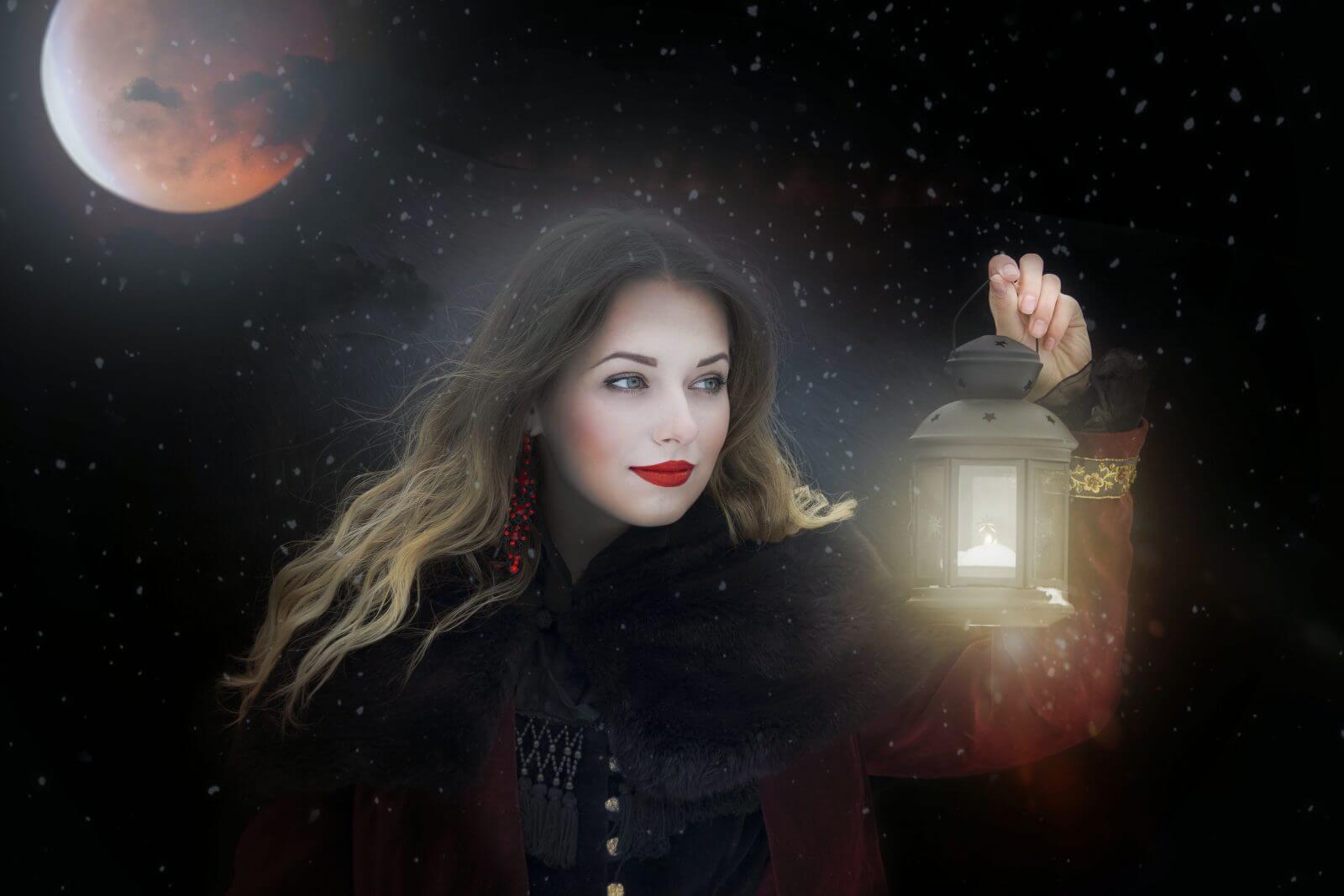 luna llena en leo y eclipse