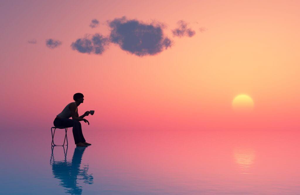 Sagitario y la puesta de sol