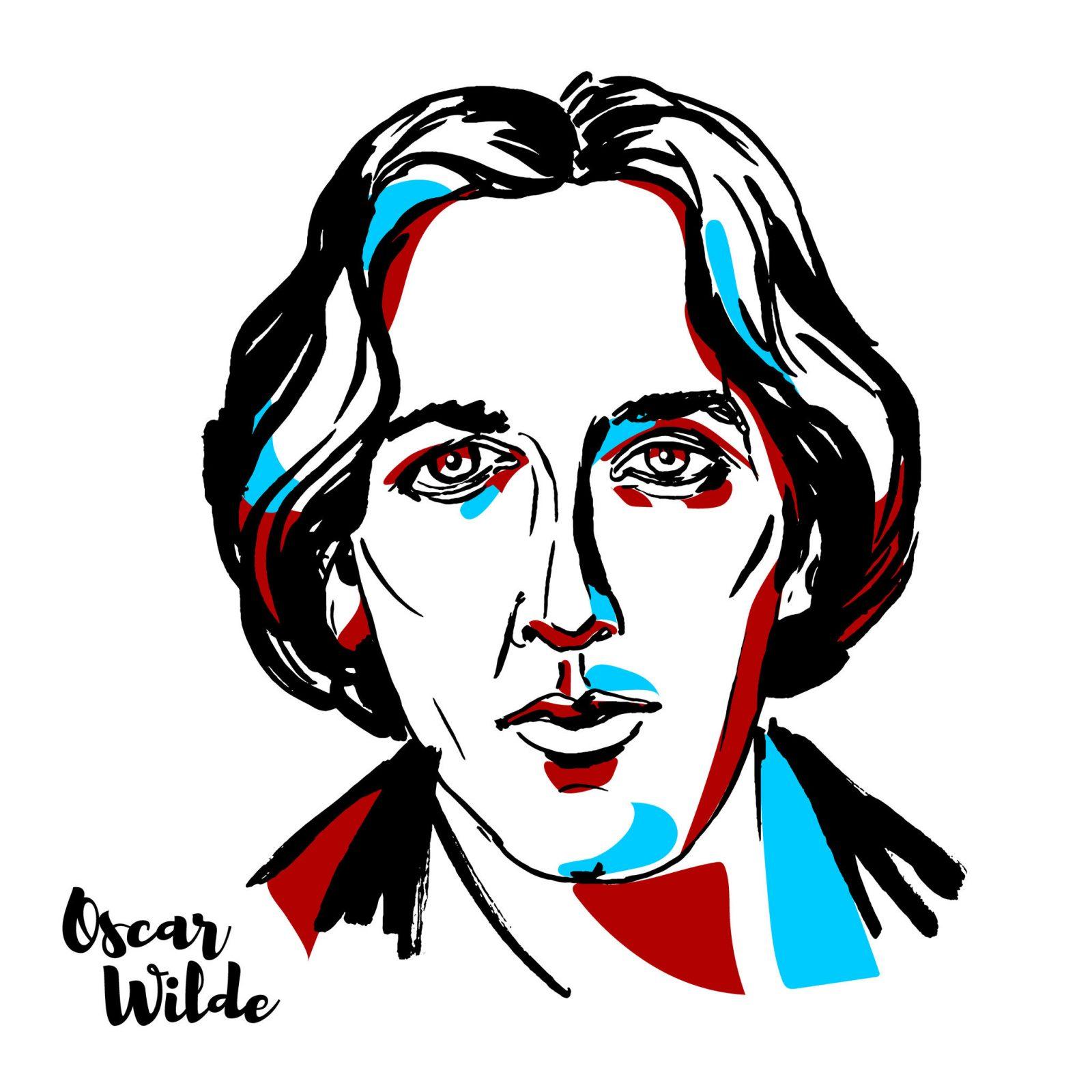 retrato de Oscar Wilde sentado en una silla