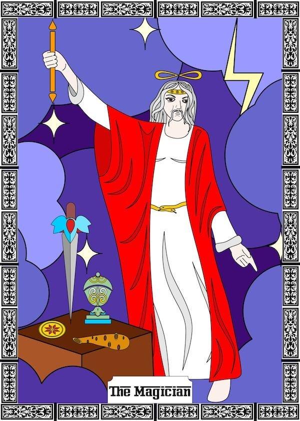 la carta el mago en tarot